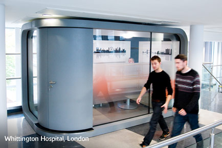 Custom POD at Whittington Hispital, London